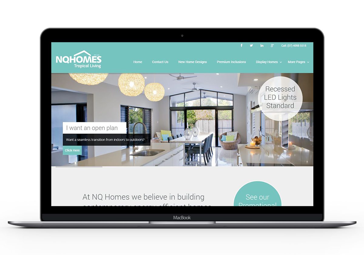 NQ Homes Cairns QLD logo design and web design by Logoland