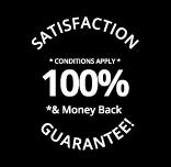 100% satisfaction & money back guarantee Logoland Badge