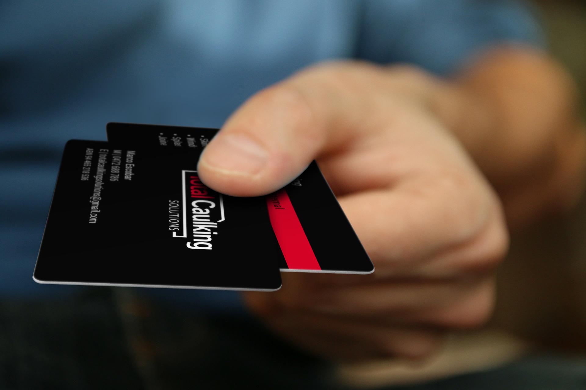 Total Caulking Business Card Design