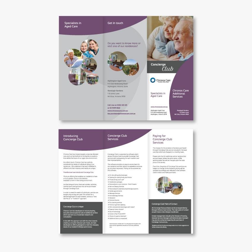 Chronos Care DL Tri-fold Brochure Design