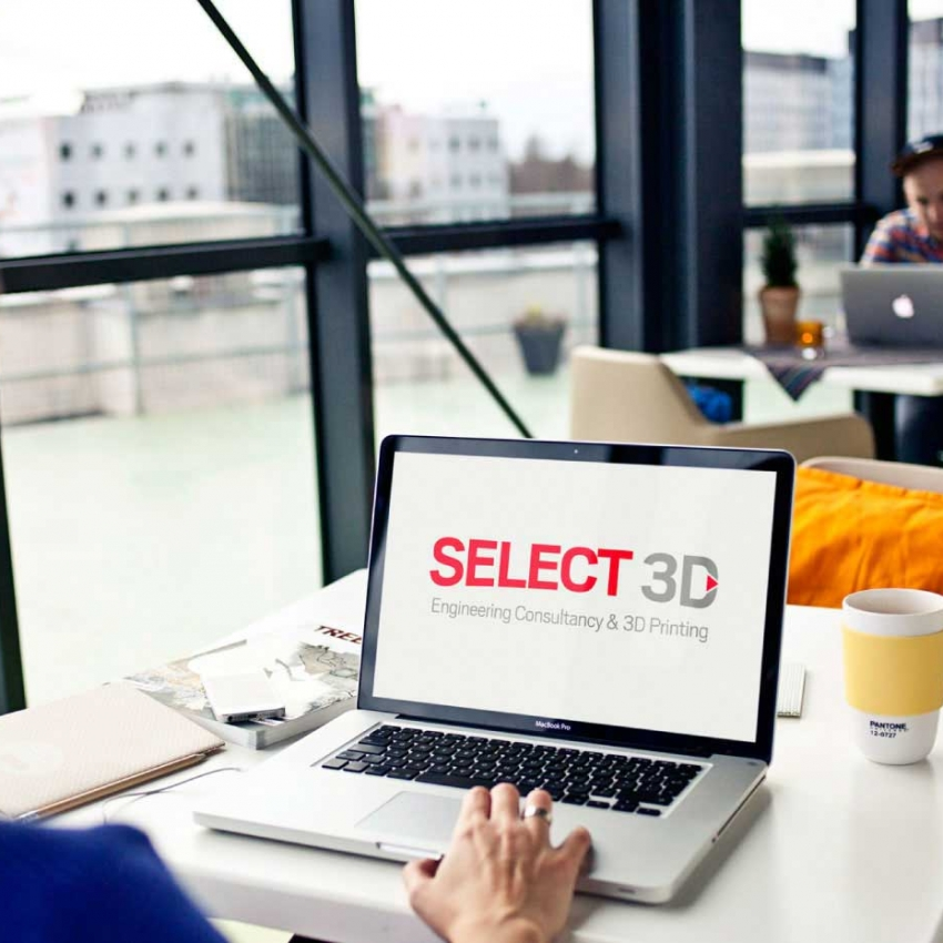 Select 3D printing logo by Logoland