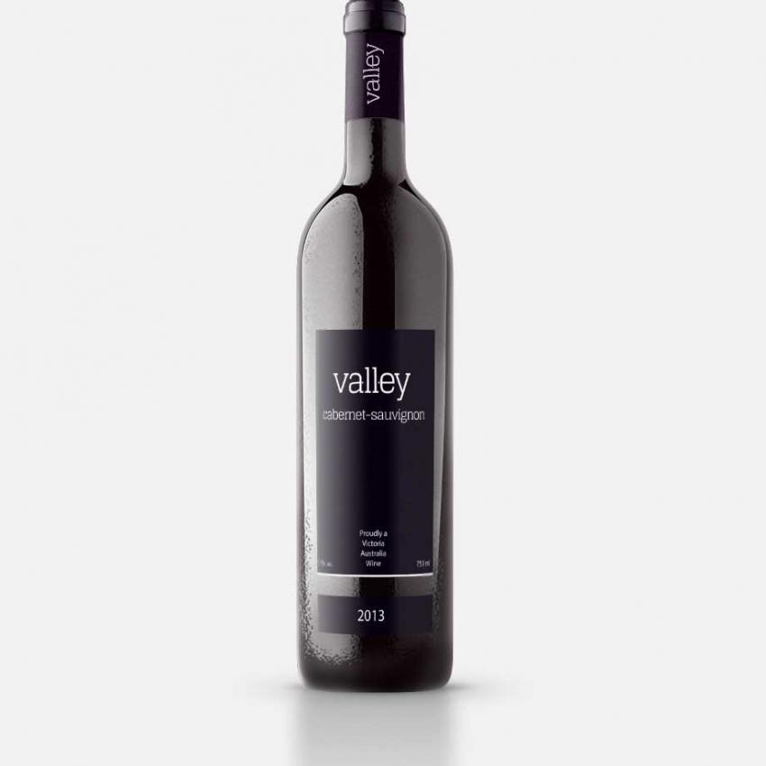 Valley Wine logo & label design